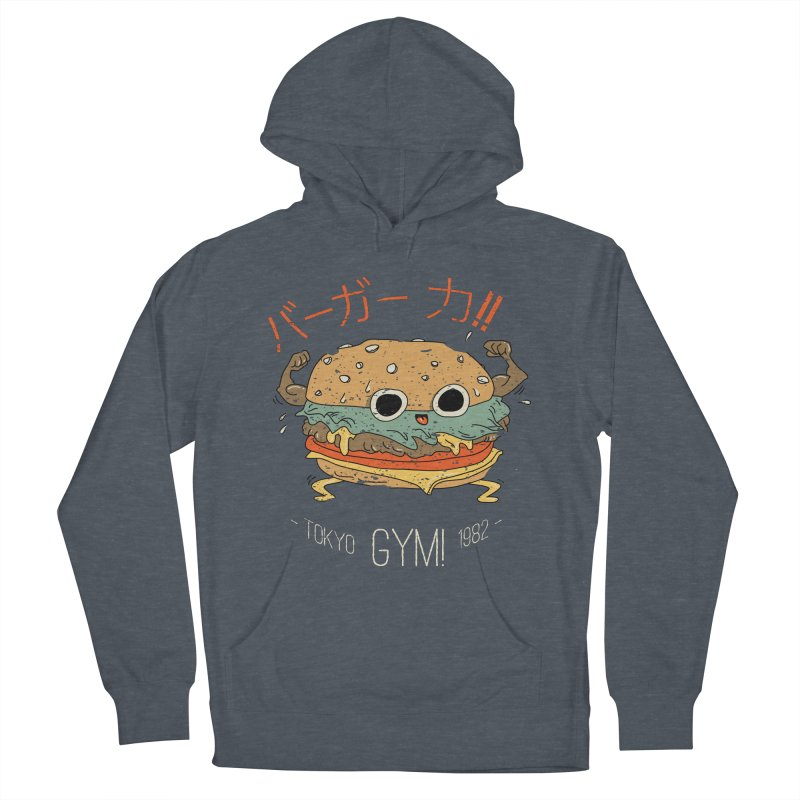 Burger Strength!! Men's French Terry Pullover Hoody by Feldir's Weirdness