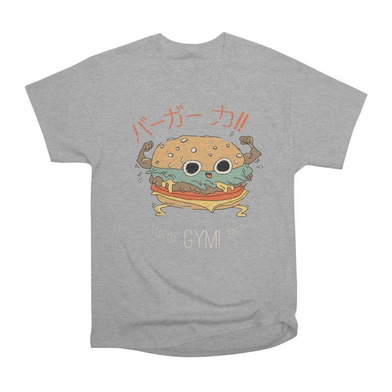 Burger Strength!! Men's Heavyweight T-Shirt by Feldir's Weirdness