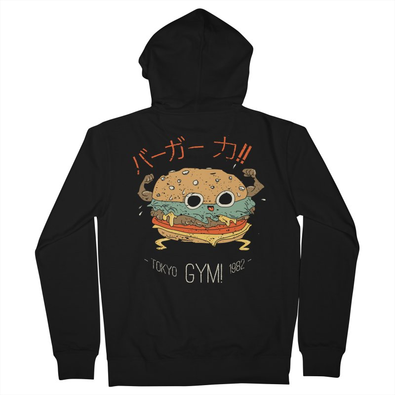 Burger Strength!! Women's Zip-Up Hoody by Feldir's Weirdness