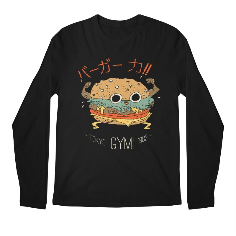 Burger Strength!! Men's Regular Longsleeve T-Shirt by Feldir's Weirdness