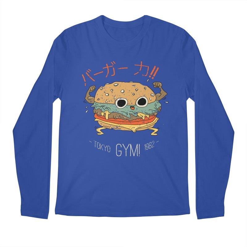 Burger Strength!! Men's Regular Longsleeve T-Shirt by Feldir's Weirdness
