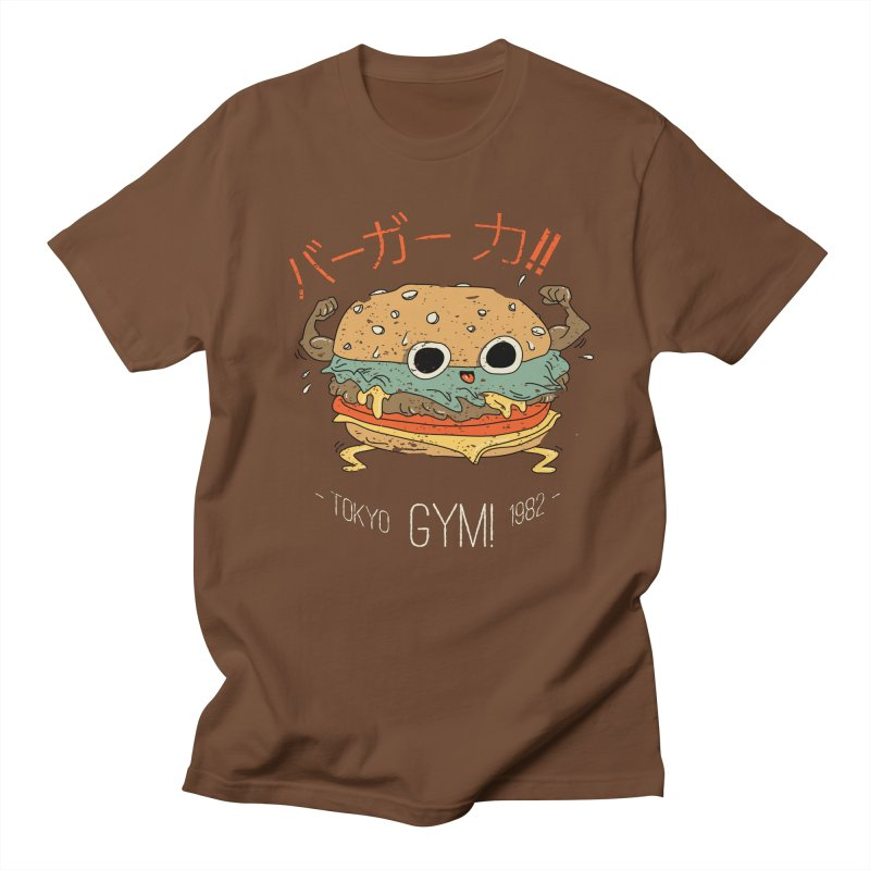 Burger Strength!! Men's Regular T-Shirt by Feldir's Weirdness