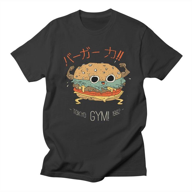 Burger Strength!! Men's Regular T-Shirt by Feldir's Weirdness