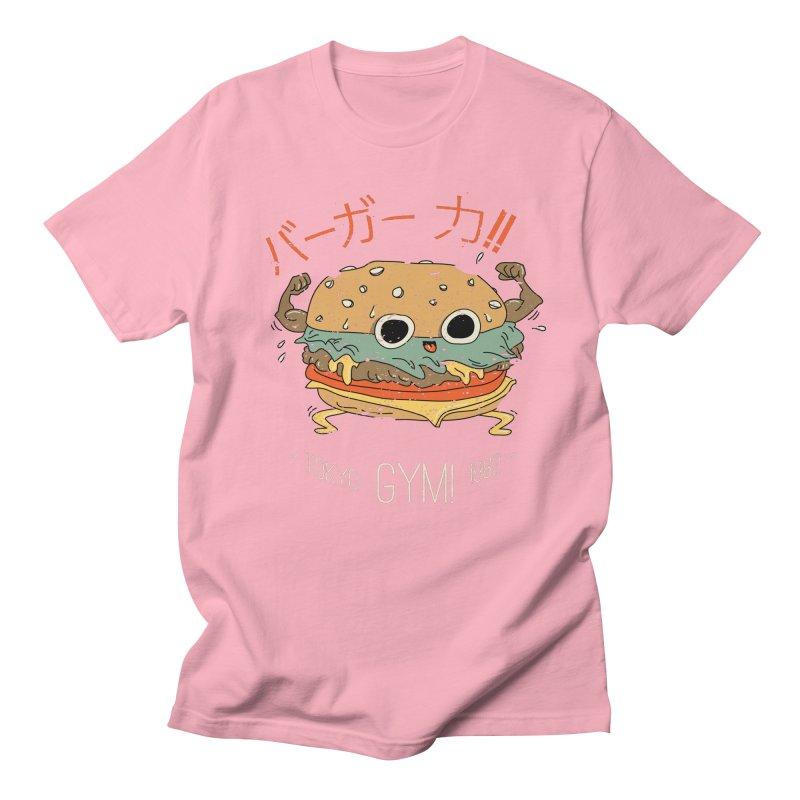 Burger Strength!! Men's T-Shirt by Feldir's Weirdness