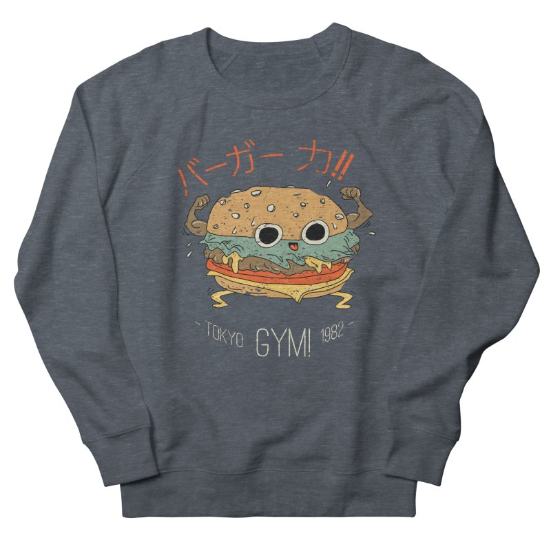 Burger Strength!! Men's French Terry Sweatshirt by Feldir's Weirdness