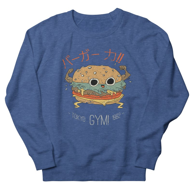 Burger Strength!! Men's French Terry Sweatshirt by Feldir's Weirdness