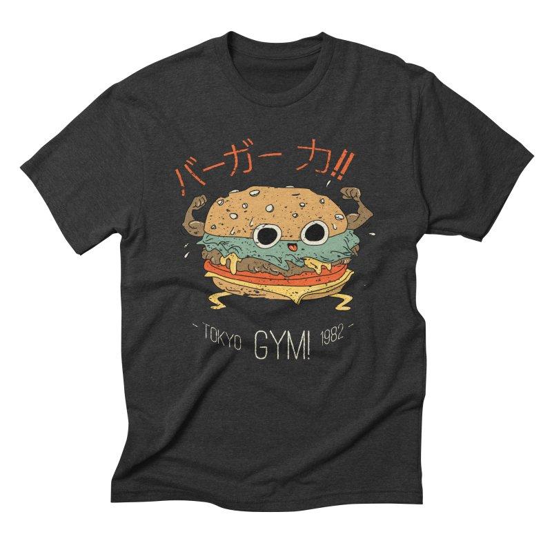 Burger Strength!! Men's Triblend T-Shirt by Feldir's Weirdness