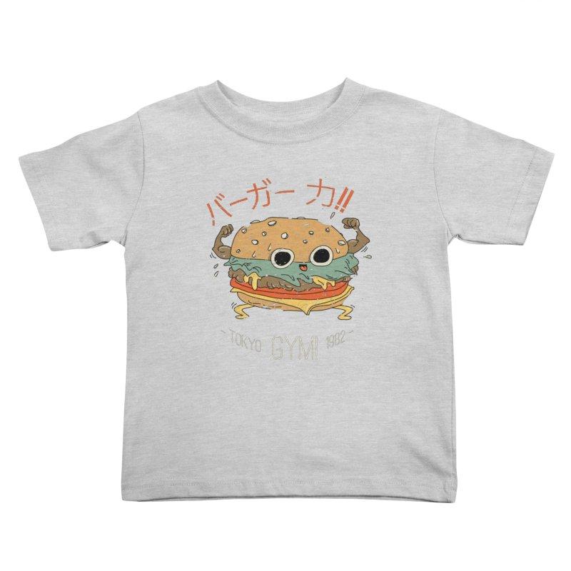 Burger Strength!! Kids Toddler T-Shirt by Feldir's Weirdness