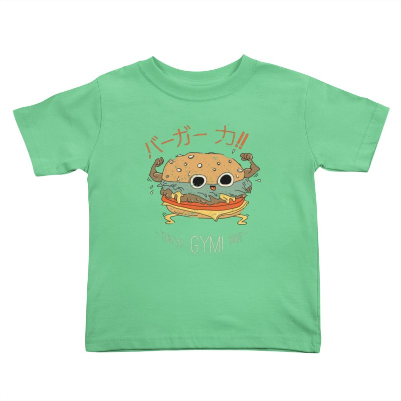 Burger Strength!! Kids Toddler T-Shirt by Feldir's Weirdness