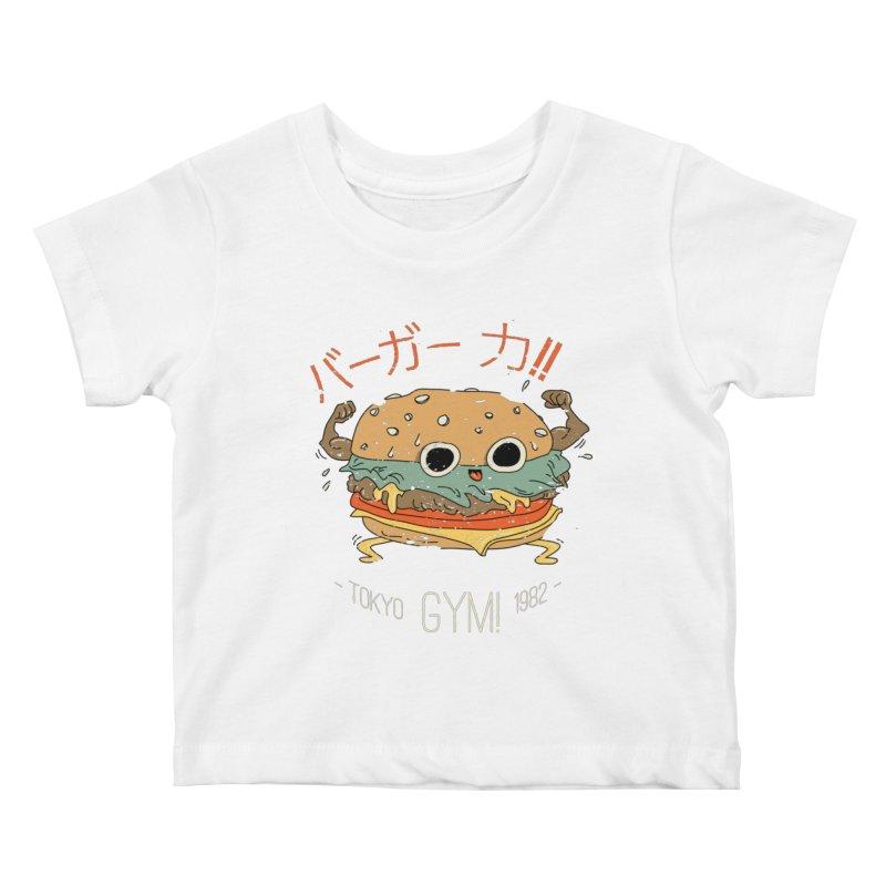 Burger Strength!! Kids Baby T-Shirt by Feldir's Weirdness