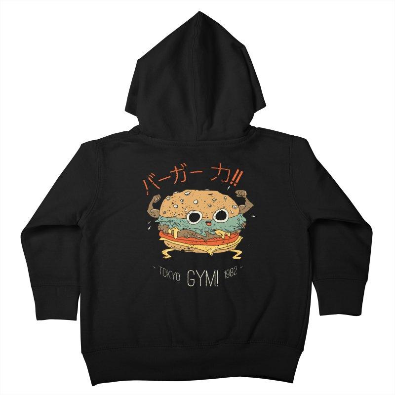 Burger Strength!! Kids Toddler Zip-Up Hoody by Feldir's Weirdness
