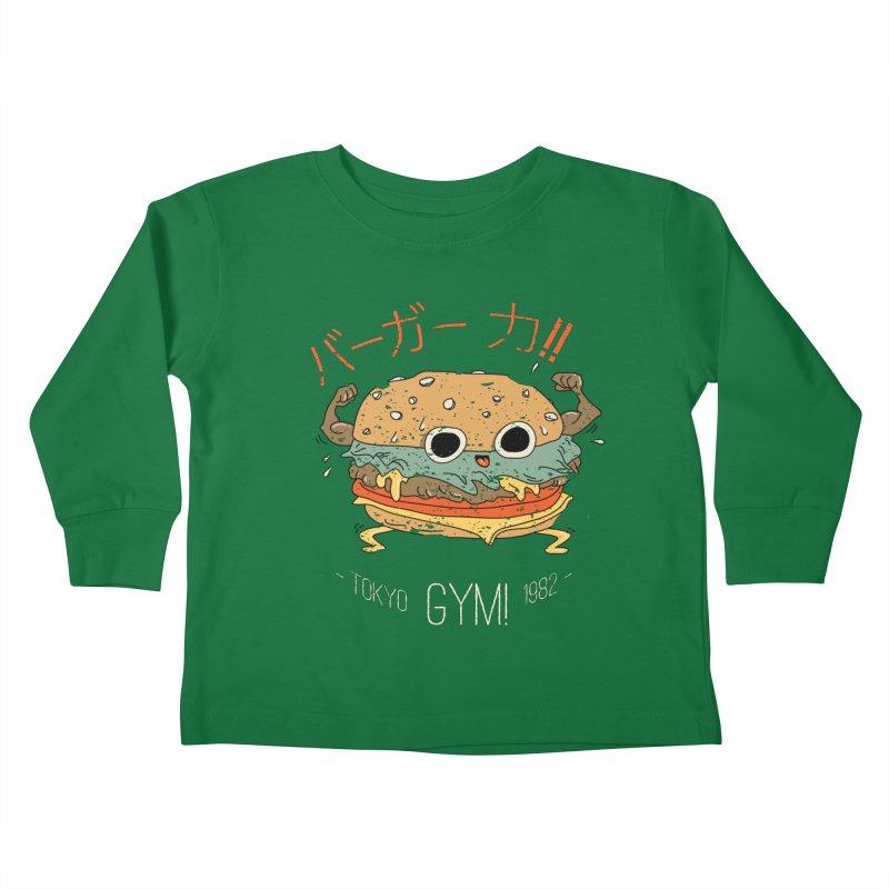 Burger Strength!! Kids Toddler Longsleeve T-Shirt by Feldir's Weirdness