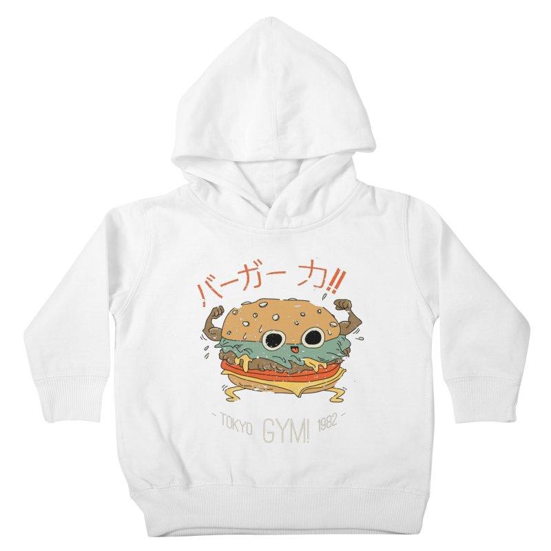 Burger Strength!! Kids Toddler Pullover Hoody by Feldir's Weirdness