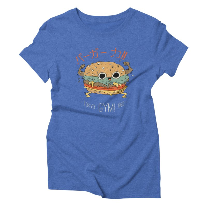 Burger Strength!! Women's Triblend T-Shirt by Feldir's Weirdness