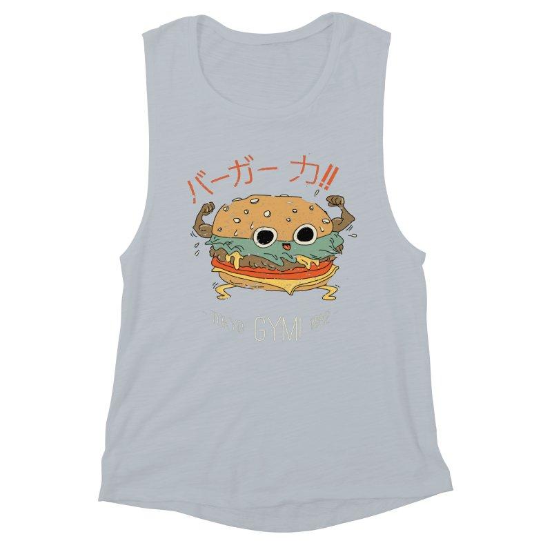 Burger Strength!! Women's Muscle Tank by Feldir's Weirdness