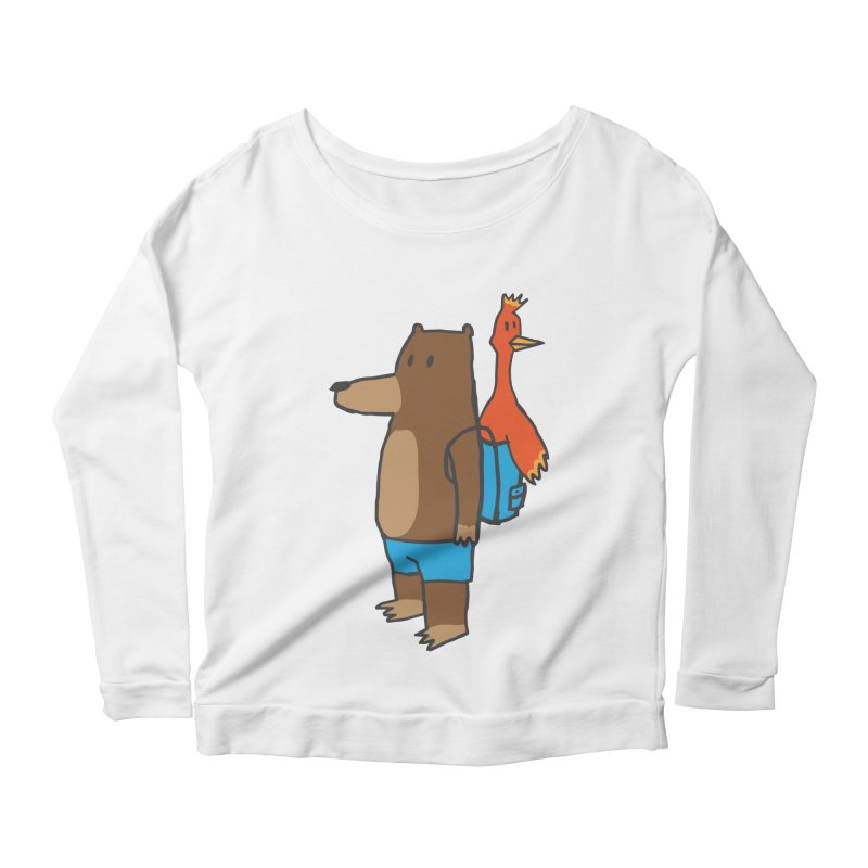 b&k Women's Scoop Neck Longsleeve T-Shirt by Feldir's Weirdness