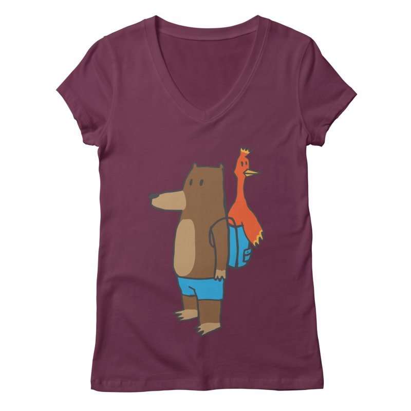 b&k Women's V-Neck by Feldir's Weirdness