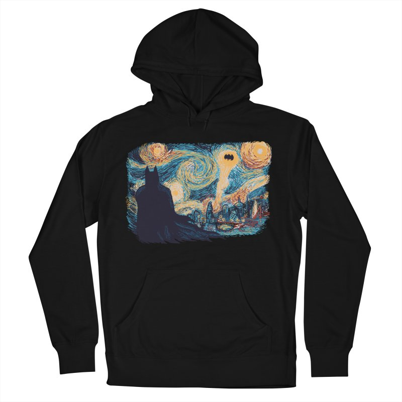 Starry Knight Men's French Terry Pullover Hoody by Feldir's Weirdness