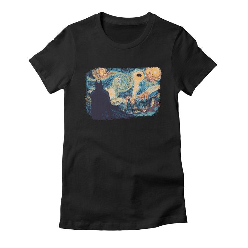 Starry Knight Women's Fitted T-Shirt by Feldir's Weirdness
