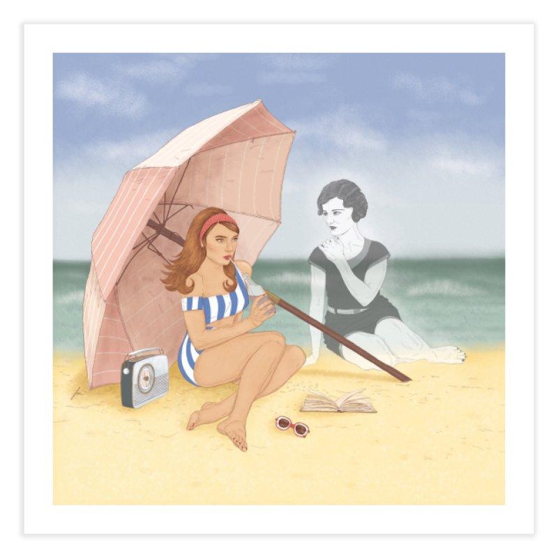 Beach Ghost Home Fine Art Print by felicity.make.peace