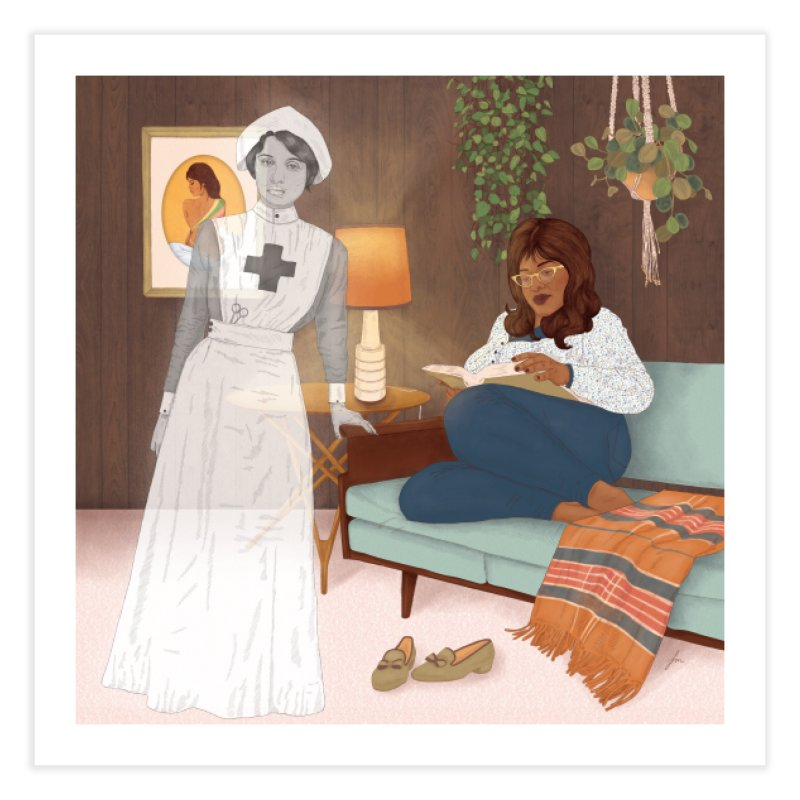 Nurse Ghost Home Fine Art Print by felicity.make.peace
