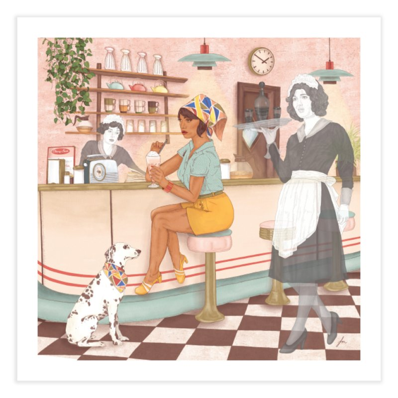 Haunted Diner Home Fine Art Print by felicity.make.peace
