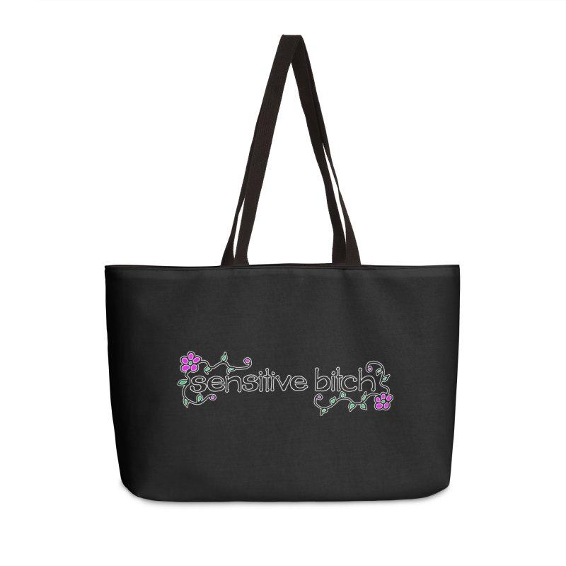 Sensitive Bitch Accessories Weekender Bag Bag by Felix Culpa Designs
