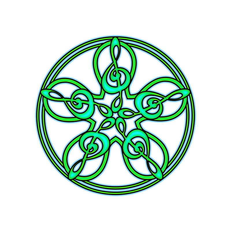 Celtic Clef Mandala (green/blue) by Felix Culpa Designs
