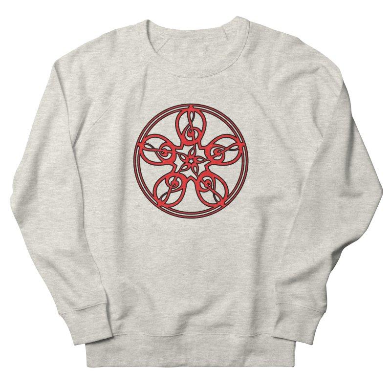 Celtic Clef Mandala (red/black) Women's French Terry Sweatshirt by Felix Culpa Designs