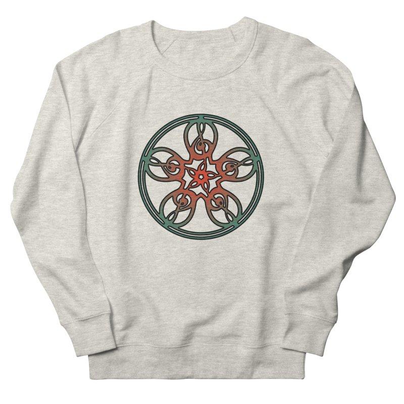 Treble Clef Mandala (red/green) Women's French Terry Sweatshirt by Felix Culpa Designs