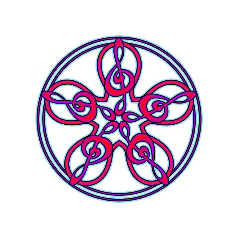 Celtic Clef Mandala (red/violet/blue) by Felix Culpa Designs