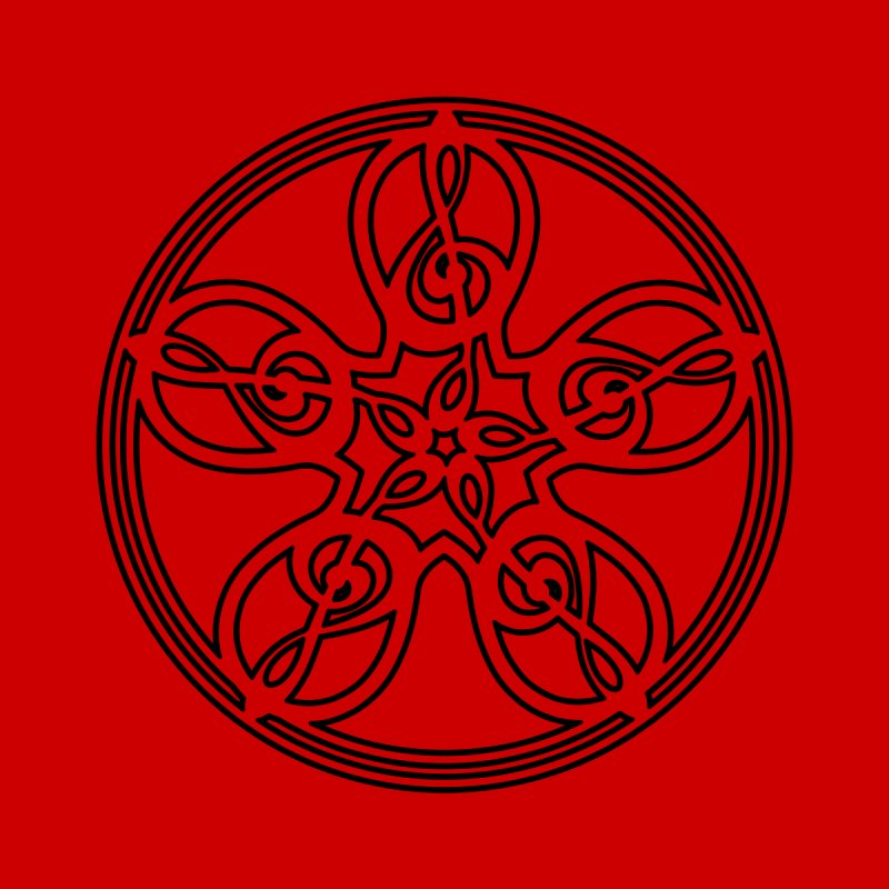 Celtic Clef Mandala (black outline) by Felix Culpa Designs