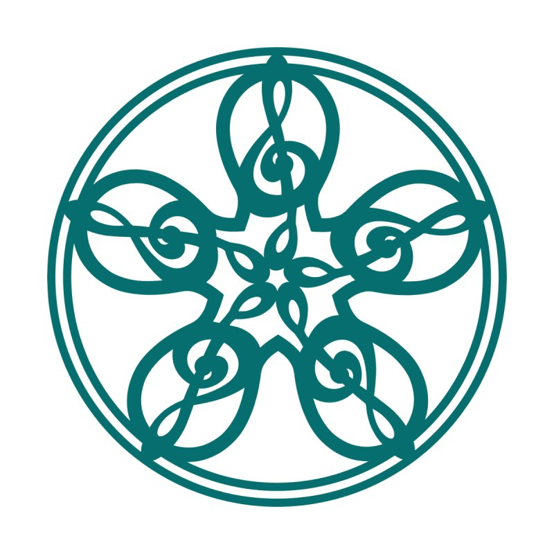 Celtic Clef Mandala (teal) by Felix Culpa Designs