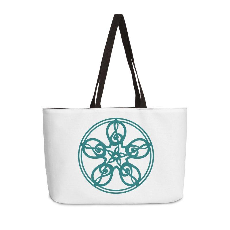 Celtic Clef Mandala (teal) Accessories Weekender Bag Bag by Felix Culpa Designs