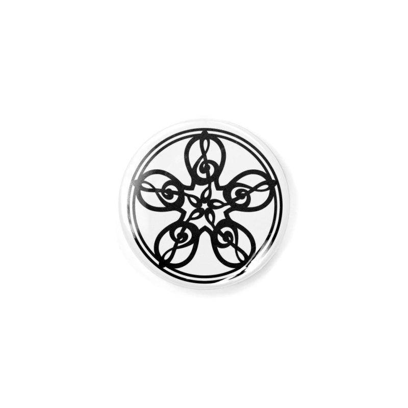 Treble Clef Mandala (black) Accessories Button by Felix Culpa Designs