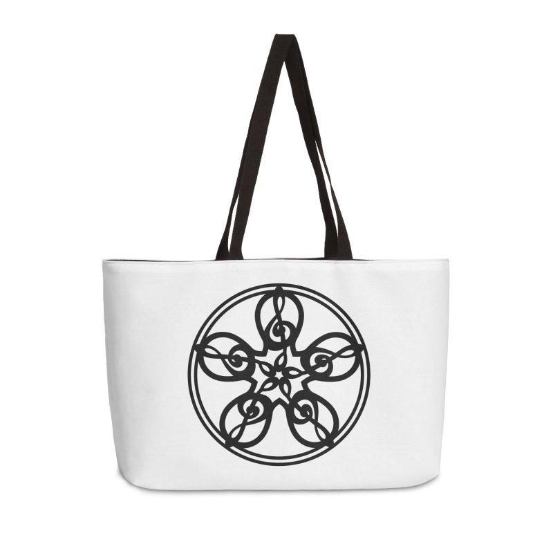 Celtic Clef Mandala (black) Accessories Weekender Bag Bag by Felix Culpa Designs