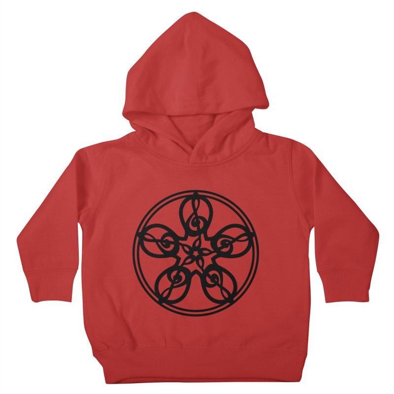 Celtic Clef Mandala (black) Kids Toddler Pullover Hoody by Felix Culpa Designs