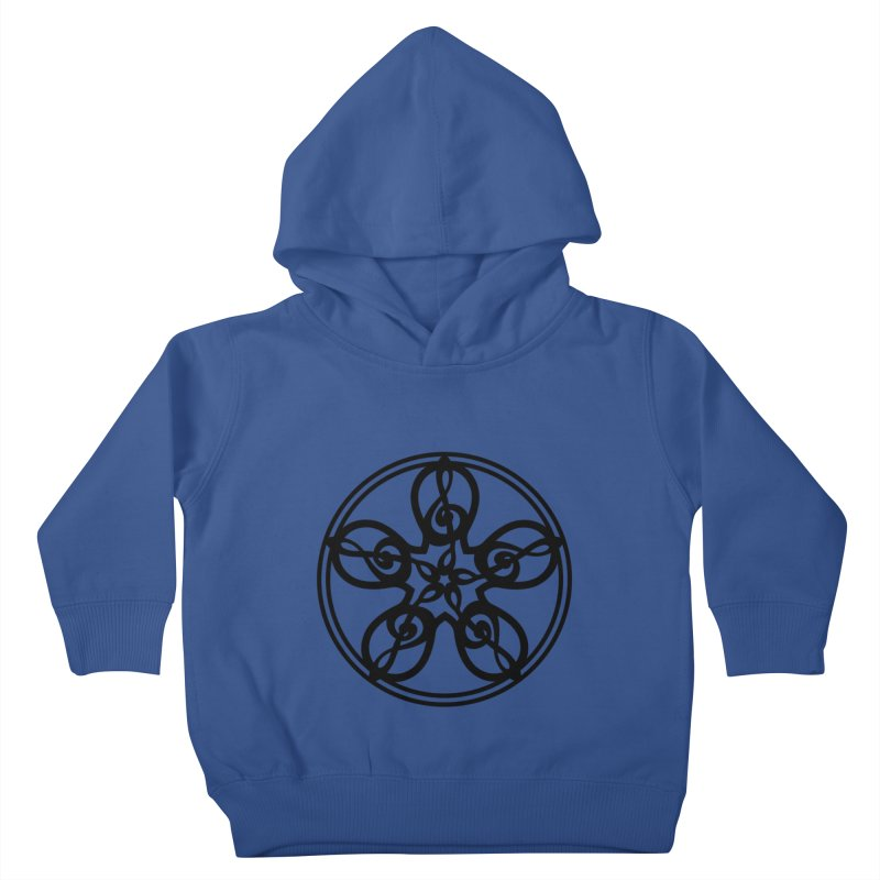 Treble Clef Mandala (black) Kids Toddler Pullover Hoody by Felix Culpa Designs