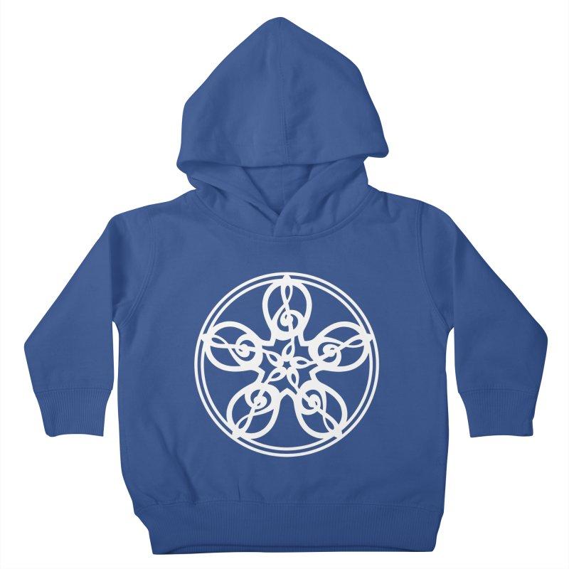 Celtic Clef Mandala (white) Kids Toddler Pullover Hoody by Felix Culpa Designs