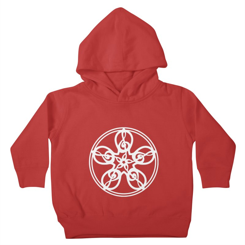 Treble Clef Mandala (white) Kids Toddler Pullover Hoody by Felix Culpa Designs