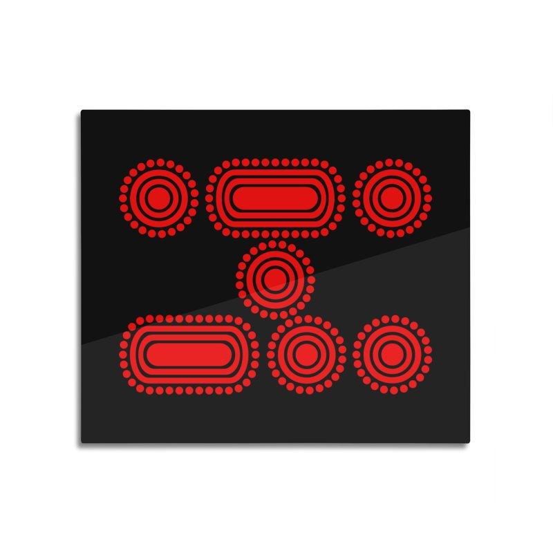 CODE RED Home Mounted Aluminum Print by Felix Culpa Designs