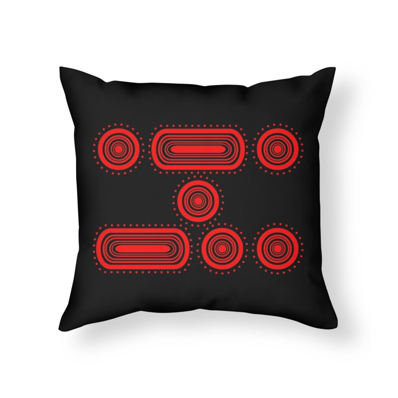 CODE RED Home Throw Pillow by Felix Culpa Designs