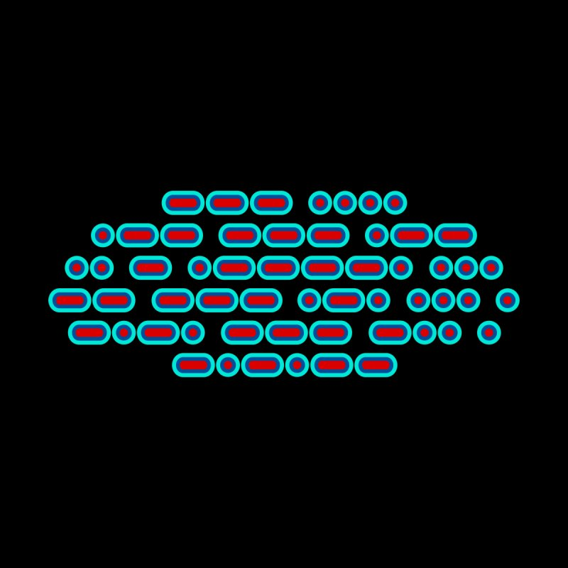 OH WOW IT'S MORSE CODE! (red/blue) by Felix Culpa Designs