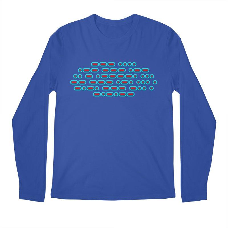 OH WOW IT'S MORSE CODE! (red/blue) Men's Regular Longsleeve T-Shirt by Felix Culpa Designs
