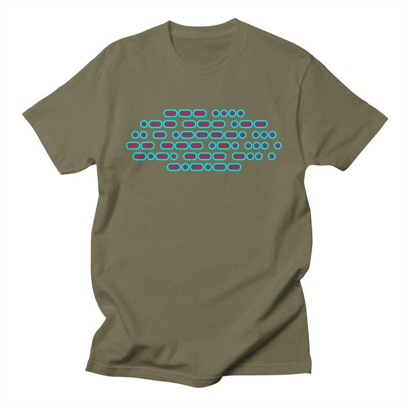 OH WOW IT'S MORSE CODE! (red/blue) Men's Regular T-Shirt by Felix Culpa Designs