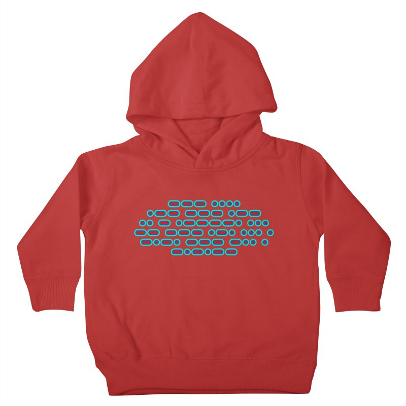 OH WOW IT'S MORSE CODE! (red/blue) Kids Toddler Pullover Hoody by Felix Culpa Designs