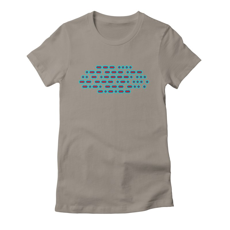 OH WOW IT'S MORSE CODE! (red/blue) Women's Fitted T-Shirt by Felix Culpa Designs