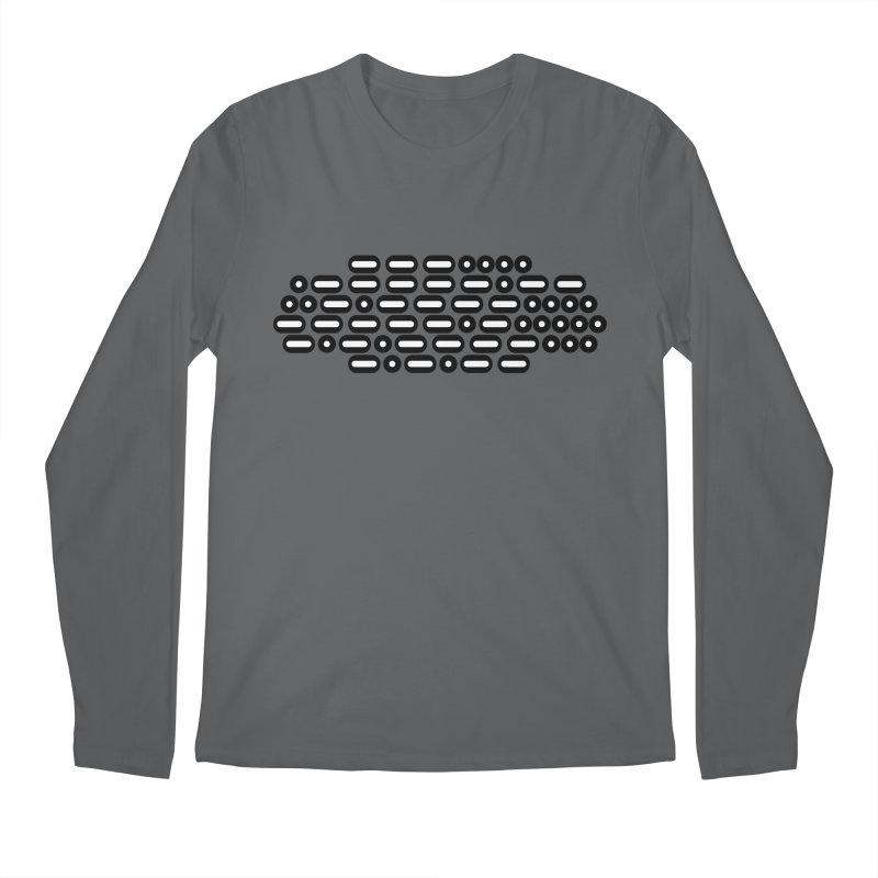 OH WOW IT'S MORSE CODE! (black/white) Men's Regular Longsleeve T-Shirt by Felix Culpa Designs