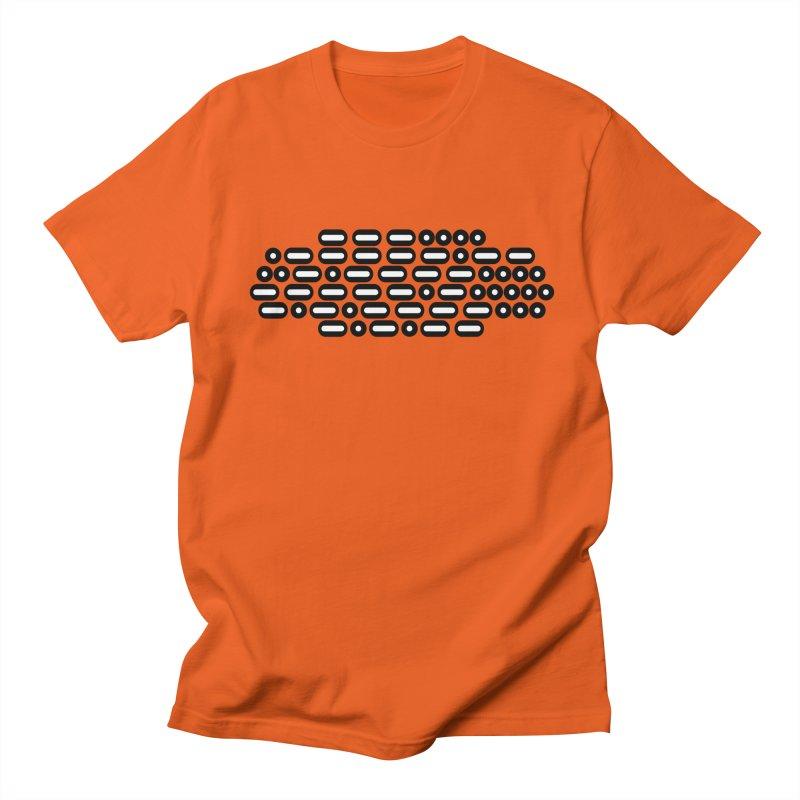 OH WOW IT'S MORSE CODE! (black/white) Men's Regular T-Shirt by Felix Culpa Designs