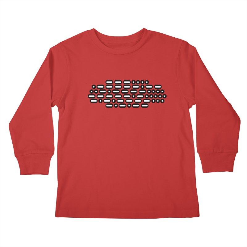 OH WOW IT'S MORSE CODE! (black/white) Kids Longsleeve T-Shirt by Felix Culpa Designs